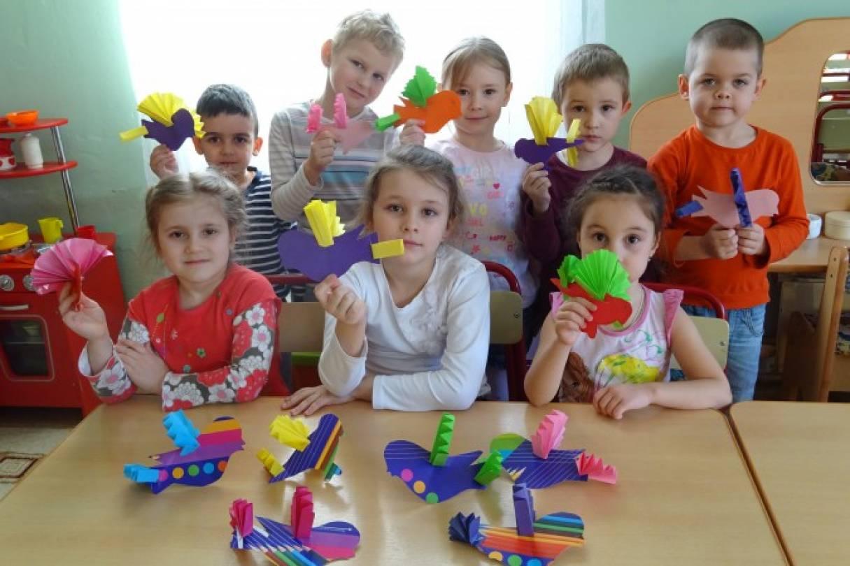 Детский мастер-класс «Десять птичек — стайка». Художественное творчество детей