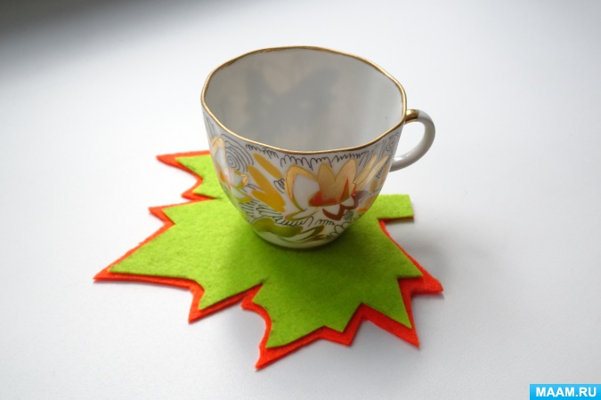 Мастер-класс поделки из фетра «Подставка под чашку»