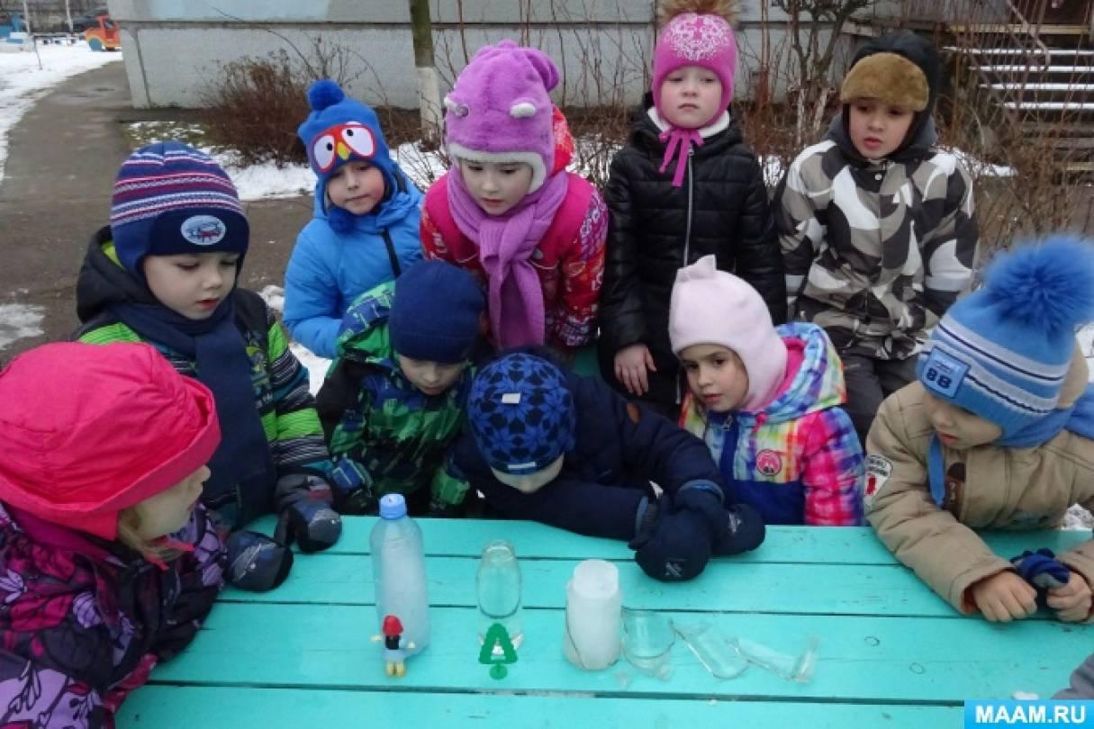 Экспериментальная деятельность детей. Опыты «Сравнение прозрачности воды и льда»