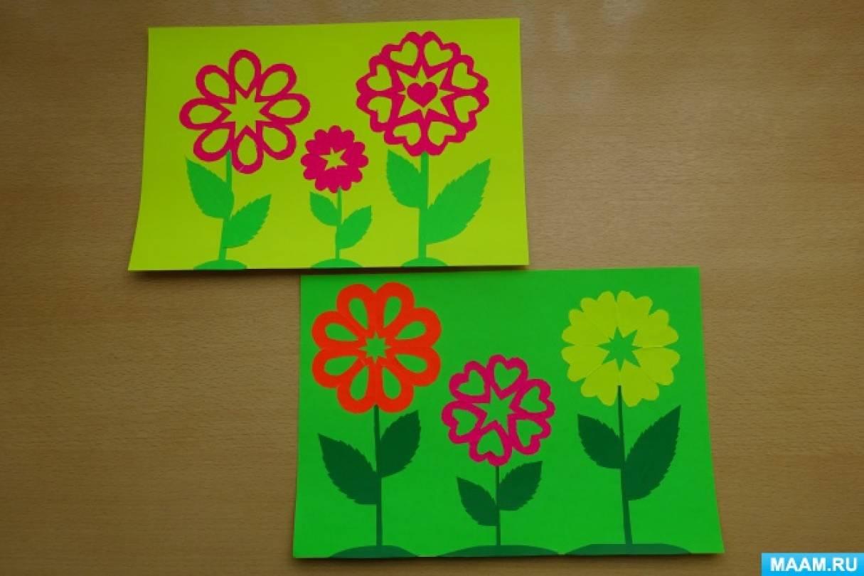 Мастер-класс по аппликации «Цветы для мамы»