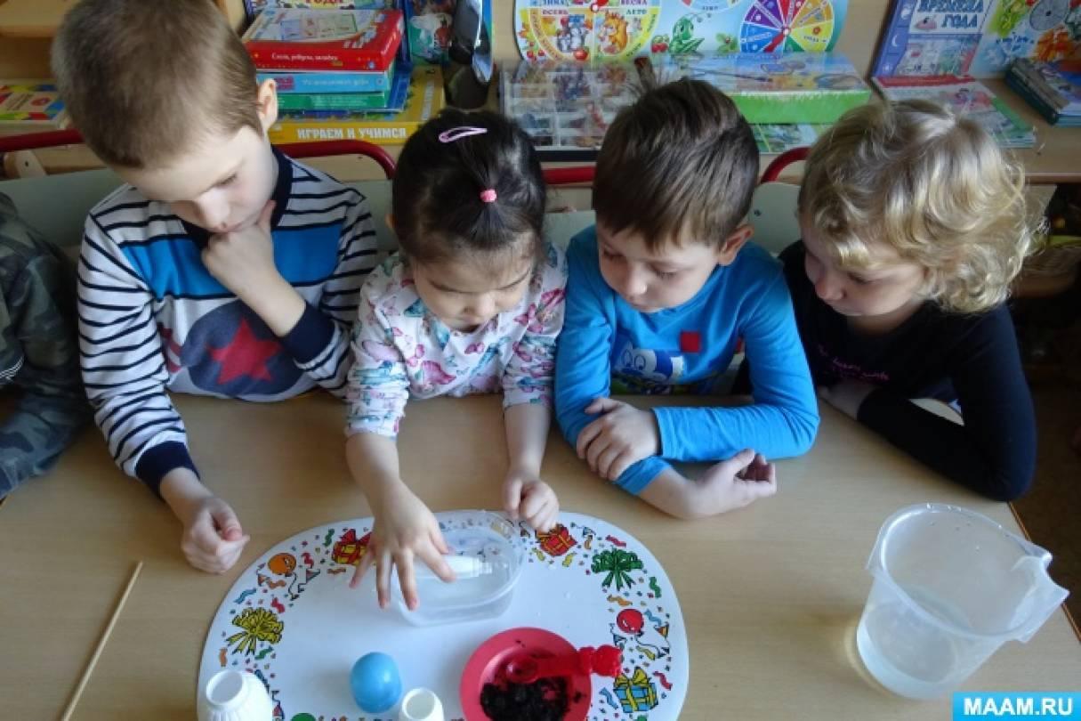 Экспериментальная деятельность детей. Опыт «Где прячется воздух?»