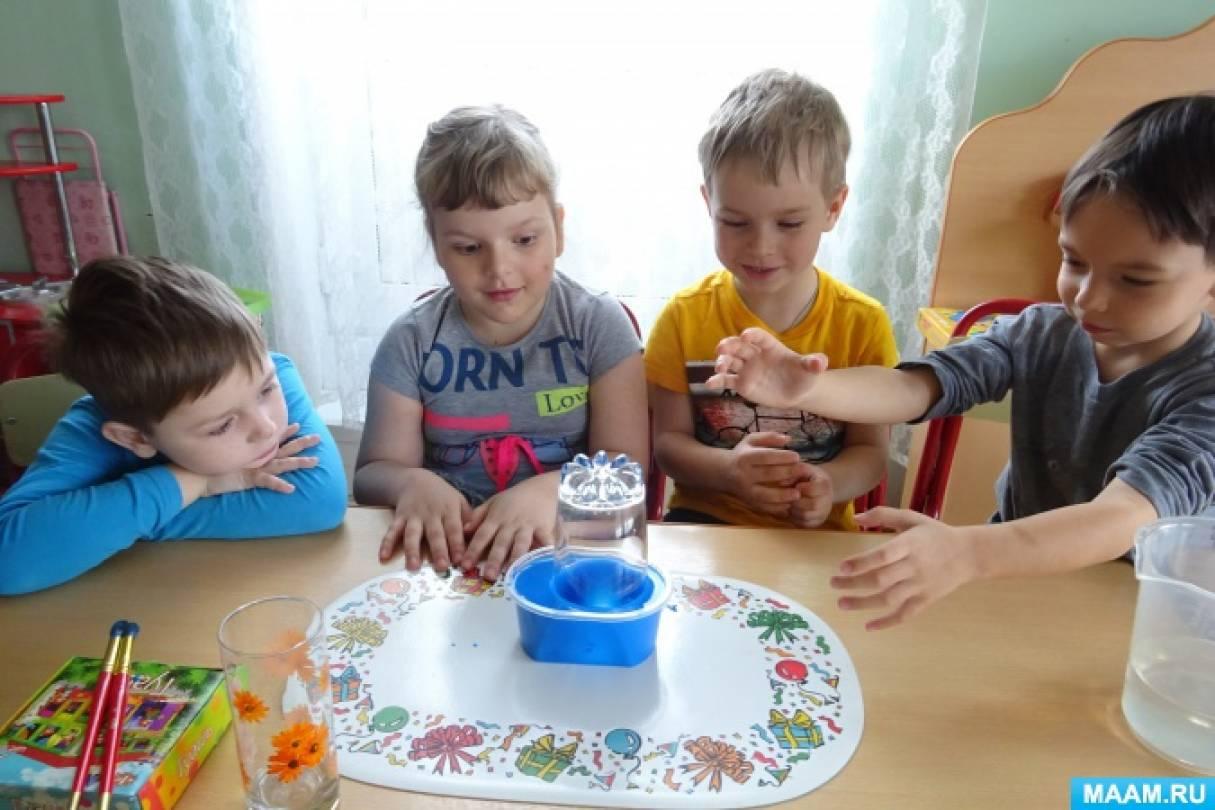 Экспериментальная деятельность детей «Почему вода не поднялась выше?»
