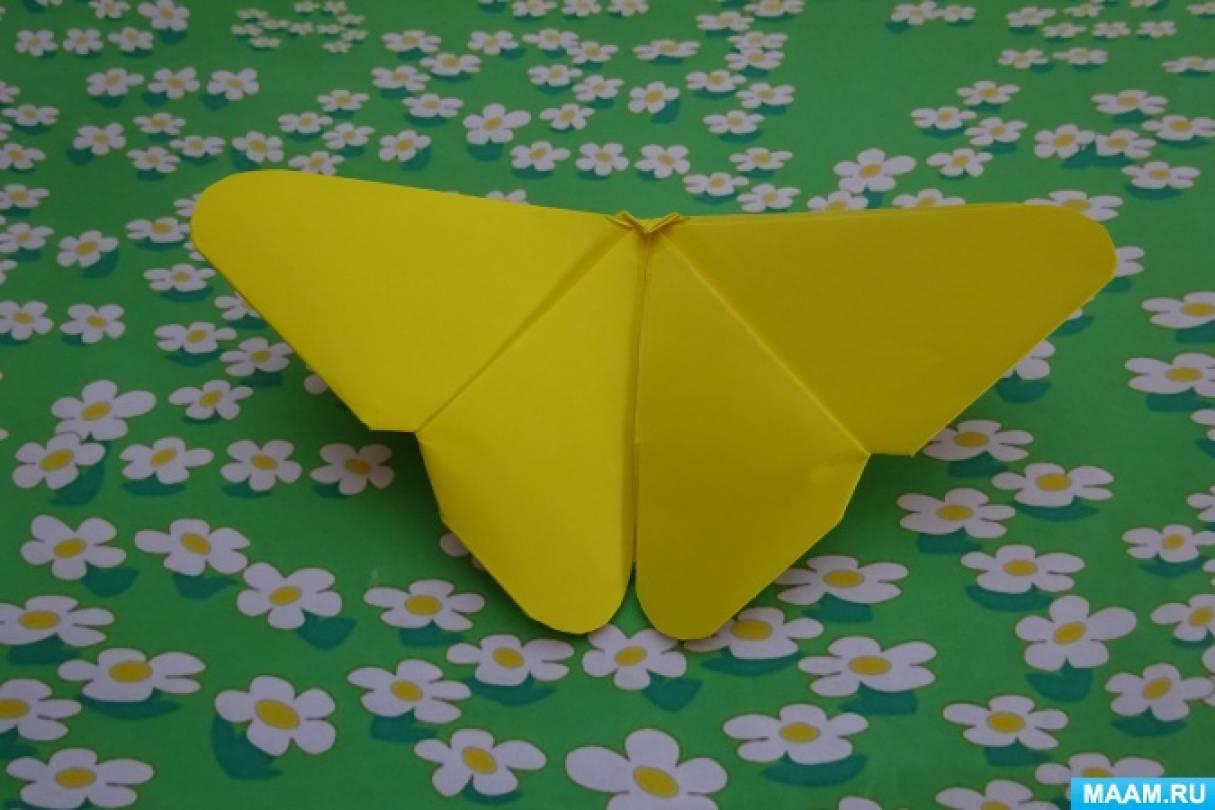 Мастер-класс по оригами «Бабочка-лимонница»