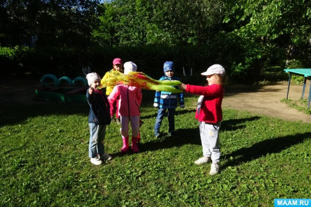 Экспериментальная деятельность детей на прогулке «Определение направления ветра»