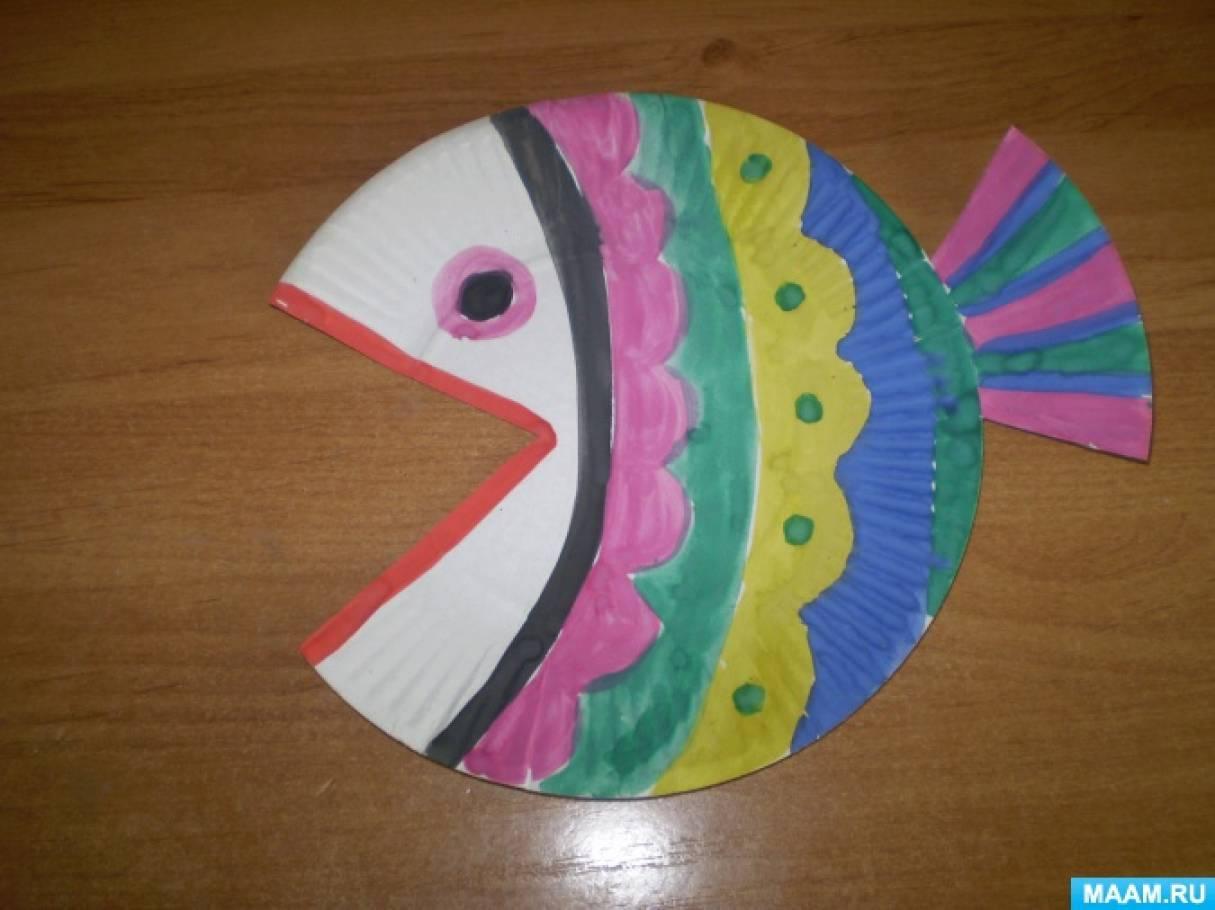 Мастер-класс «Рыбка». Мастерим из одноразовых тарелочек
