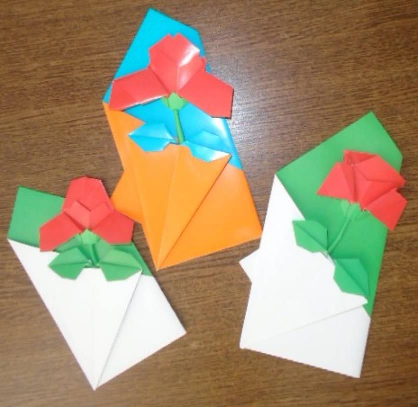 Открытки, открытка своими руками в технике оригами