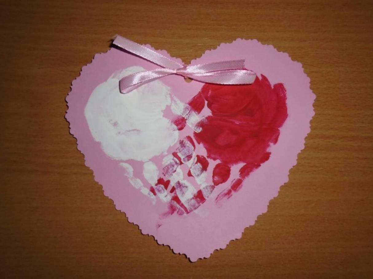 Зарубин 1964, сердце в виде открытки маме на 8 марта подготовительная группа