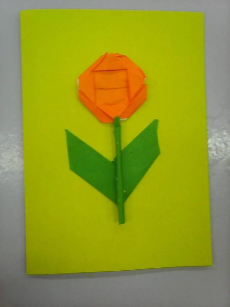 Детский мастер-класс «Открытка на 8 Марта в технике оригами»