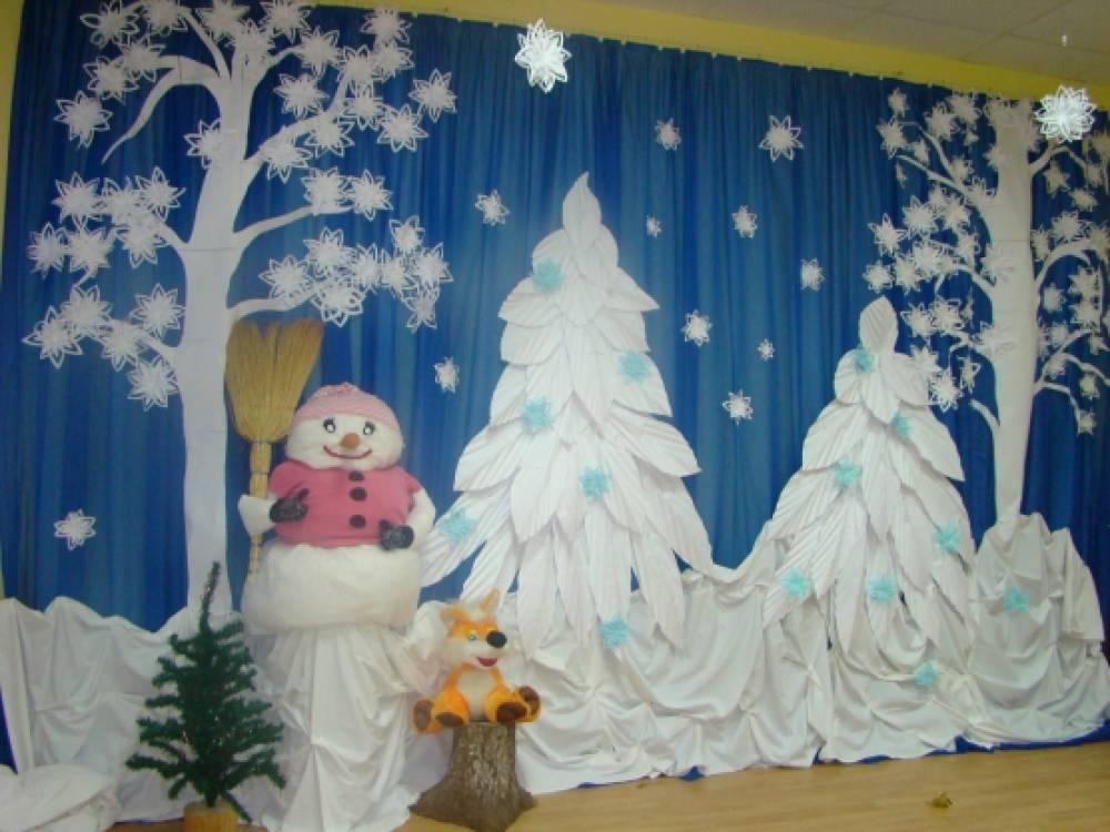 Оформление к новому году своими руками для детского сада