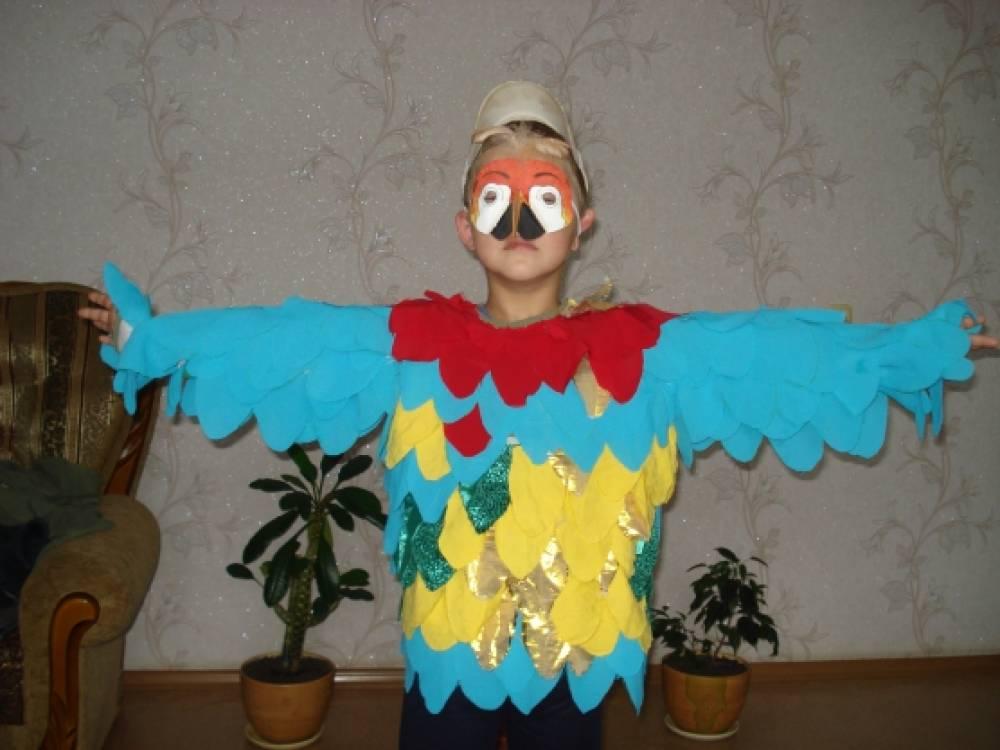 Как сделать костюм попугая из бумаги