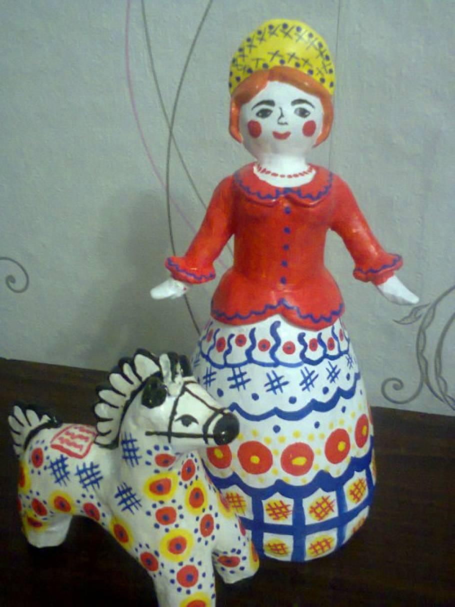 Мастер-класс по изготовлению наглядного пособия по теме «Дымка», «Гжель», «Коми куклы»