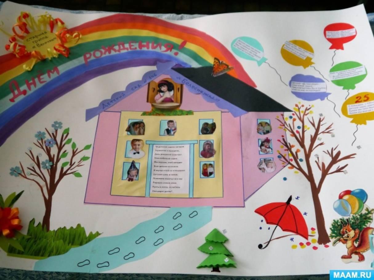 С днем рождения мой любимый детский сад открытки, днем