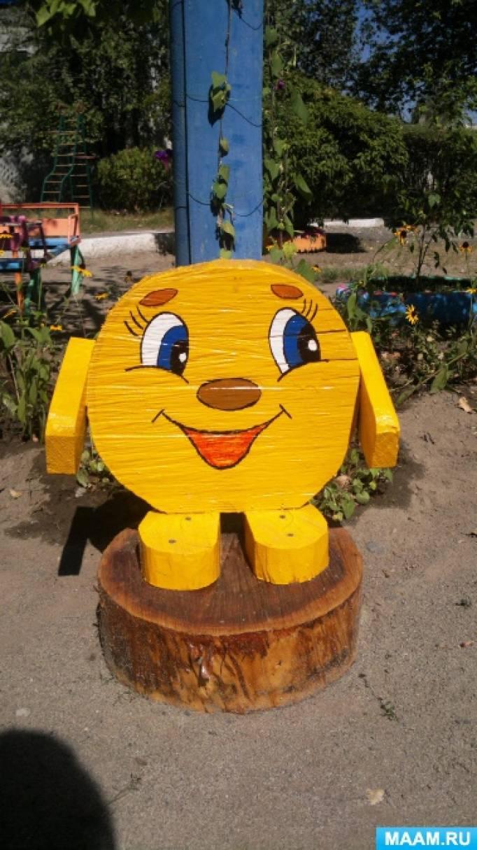 поделки из дерева на участок детского сада