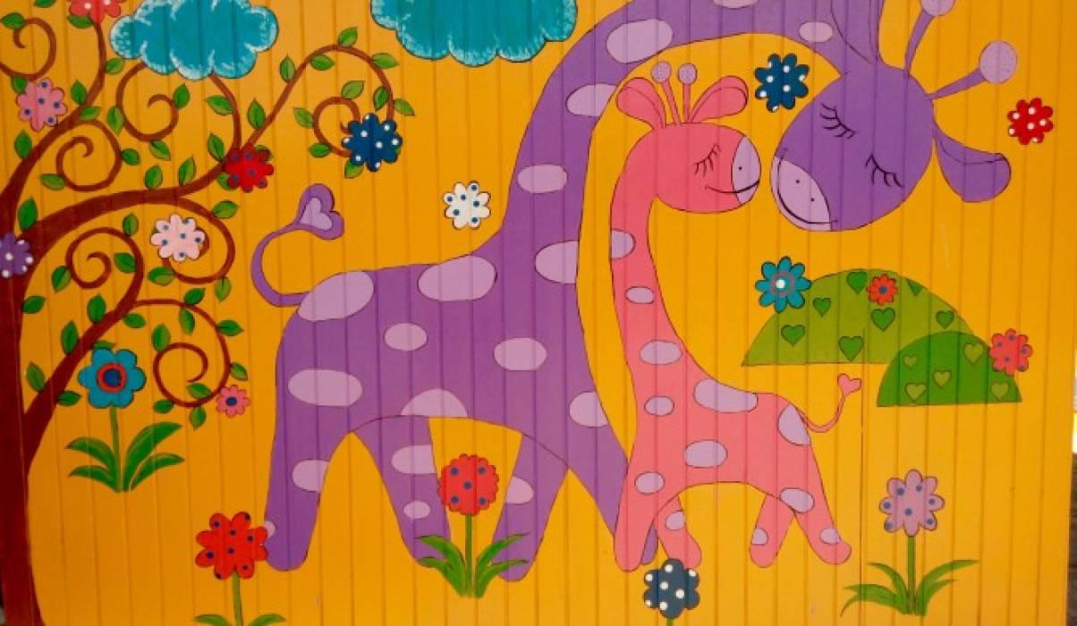 Как раскрасить веранду в детском саду своими руками