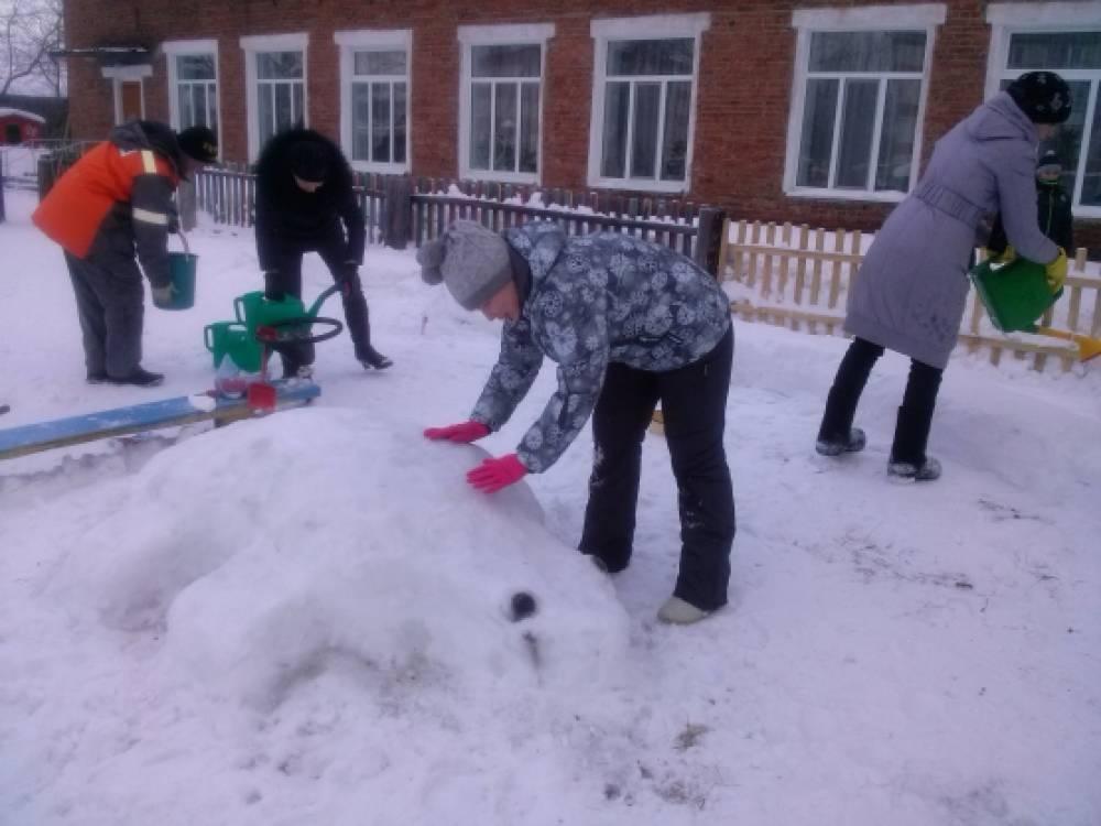 Развивающая среда на участке в зимнее время года