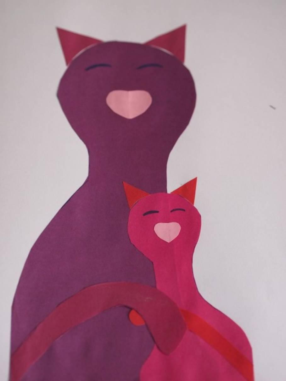 Открытка маме своими руками с кошками
