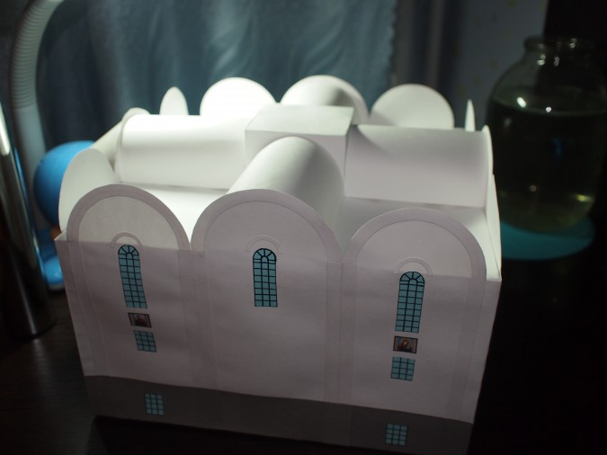 Сделать храм из картона своими руками 25