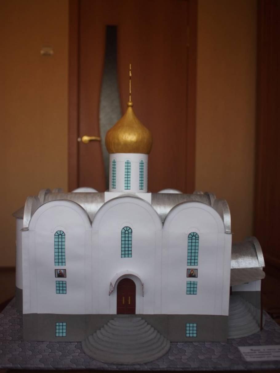 Как сделать поделку храма