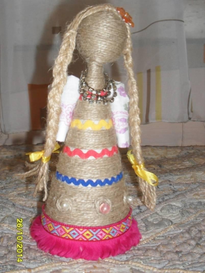 Конспект мастер-класса для родителей «Кукла из шпагата»