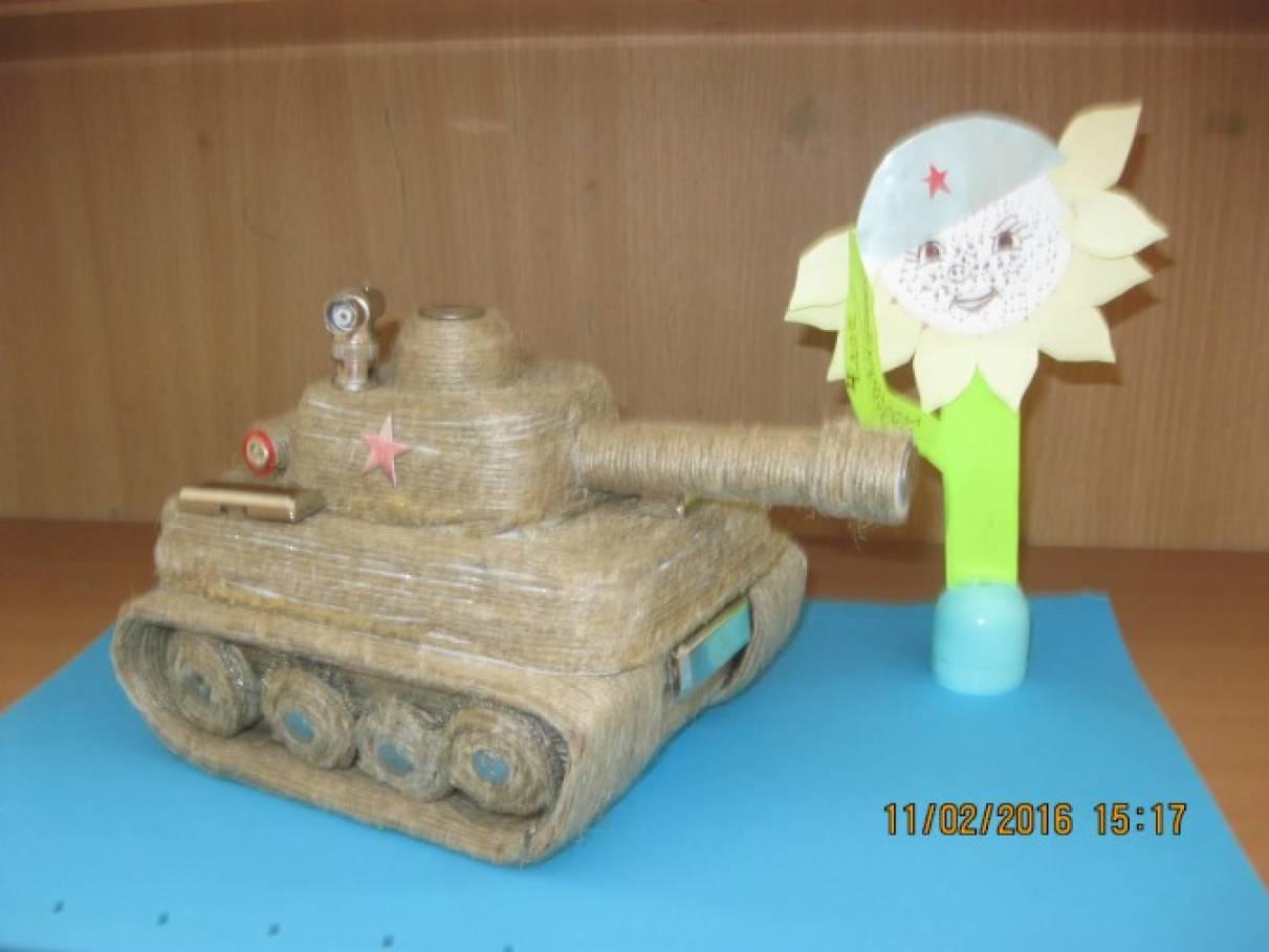 танк из бросового материала