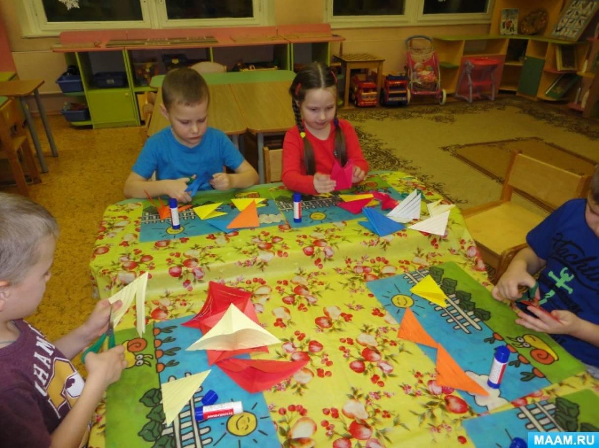 Детский мастер-класс «Объемная снежинка»