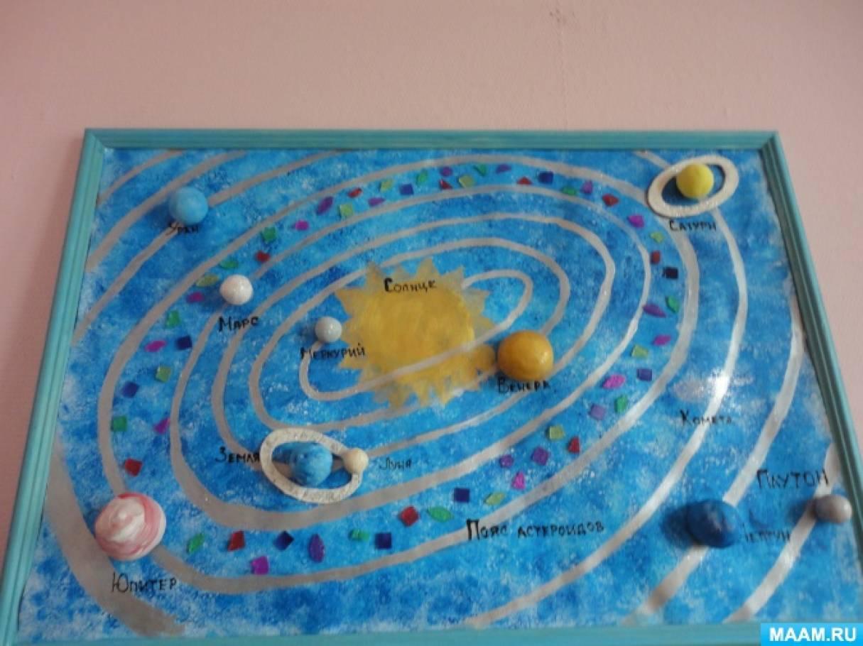 Фотоотчет о творческой выставке «Космос глазами детей»