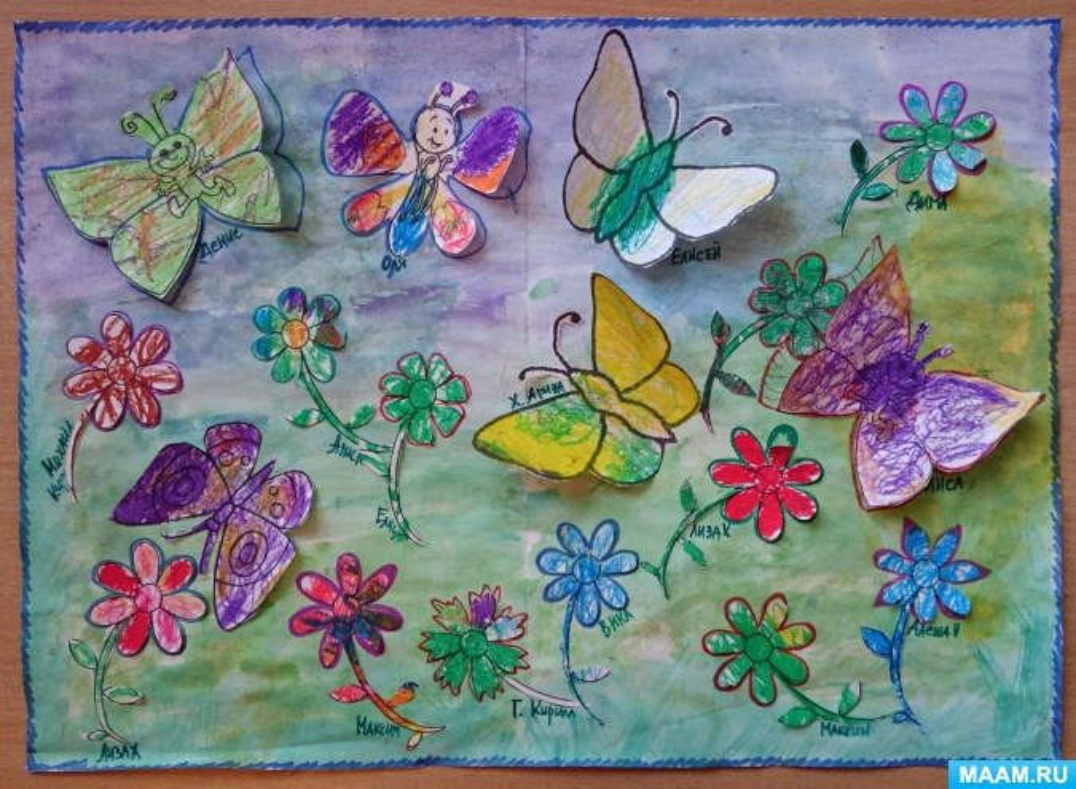 Конспект интегрированного занятия по рисованию и аппликации во второй младшей группе «Летняя полянка»