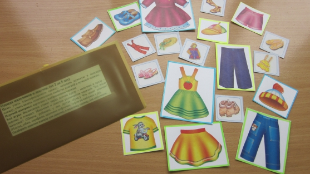 Дидактическая игра «Одежда и обувь для мальчиков и девочек»