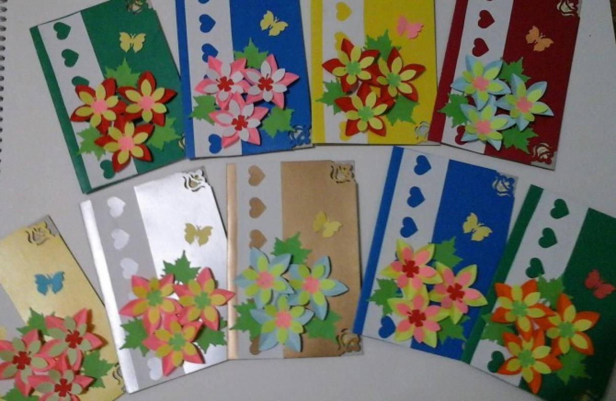 Ручной работы, открытки ко дню матери в доу своими руками