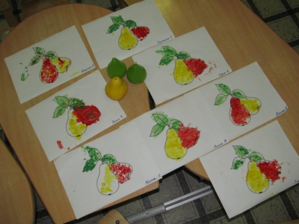 конспект занятия овощи фрукты в средней группе