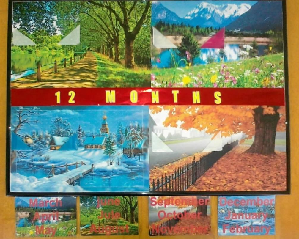 Дидактическая игра по английскому языку «12 MONTH (12 месяцев)»