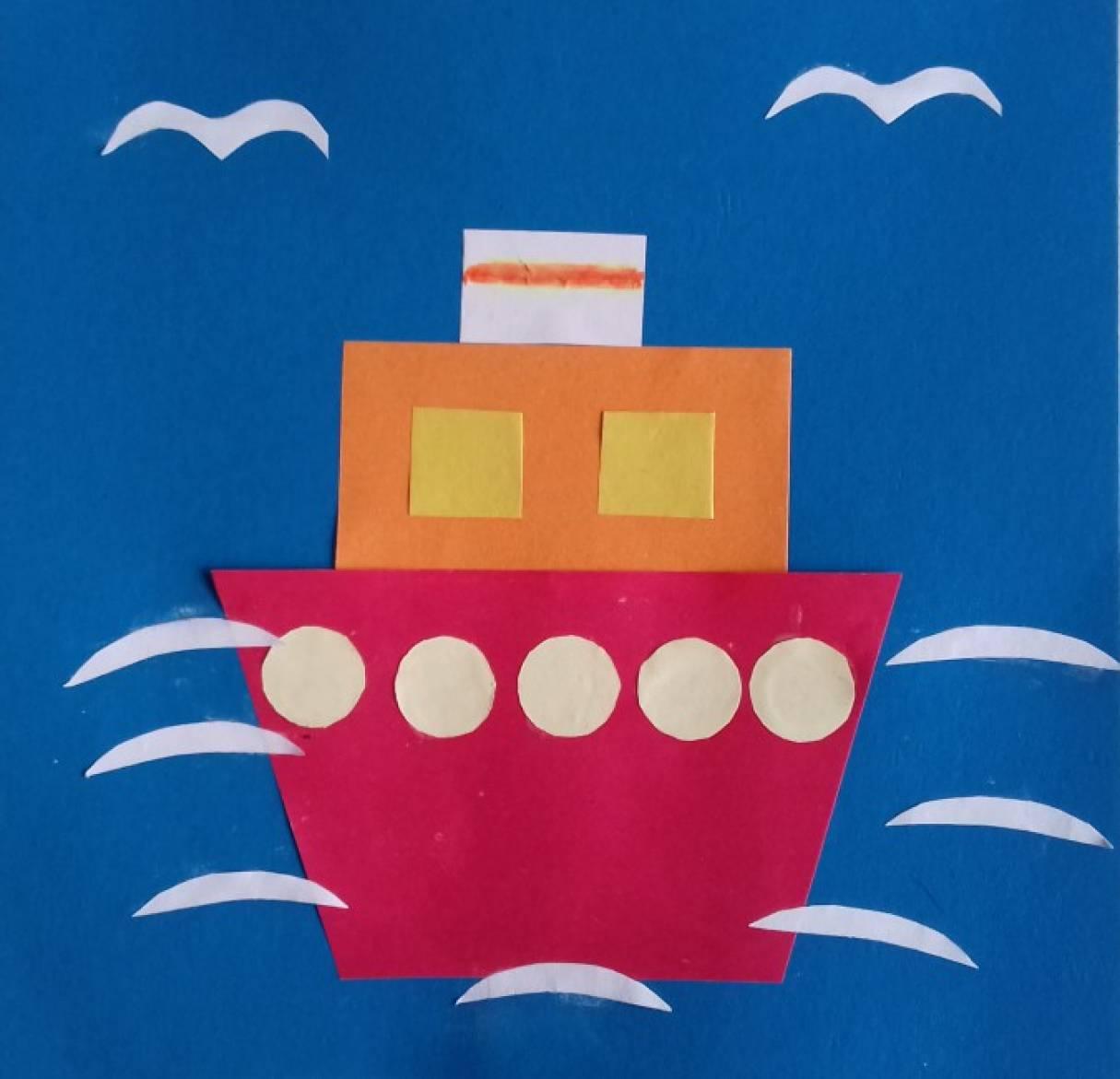 План занятия по аппликации «Корабли на рейде». Воспитателям. - Маам. ру