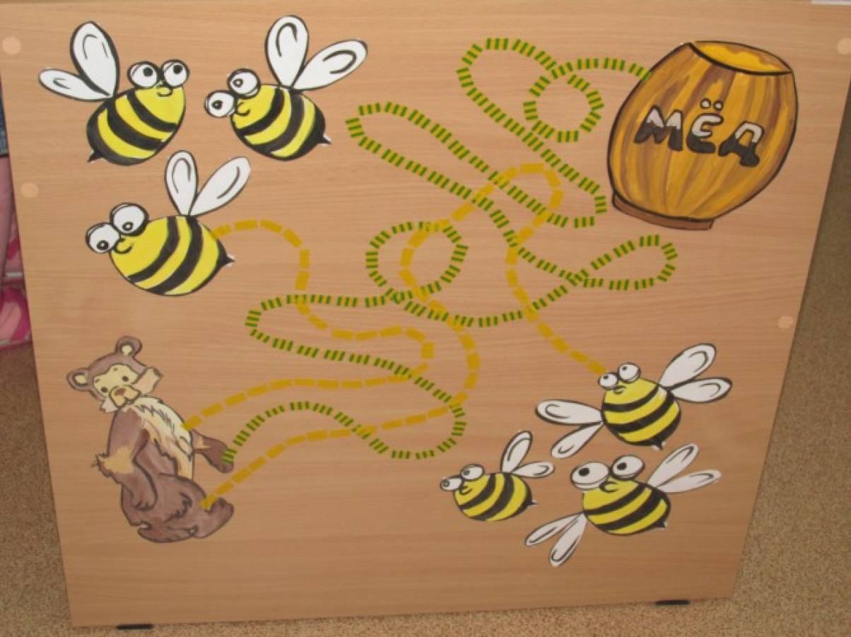 Мастер-класс по изготовлению дидактической игры «Помоги мишке найти мед»