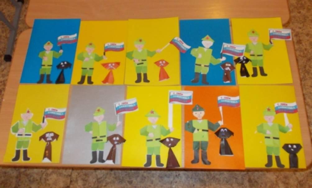 23 февраля открытки своими руками подарок папе