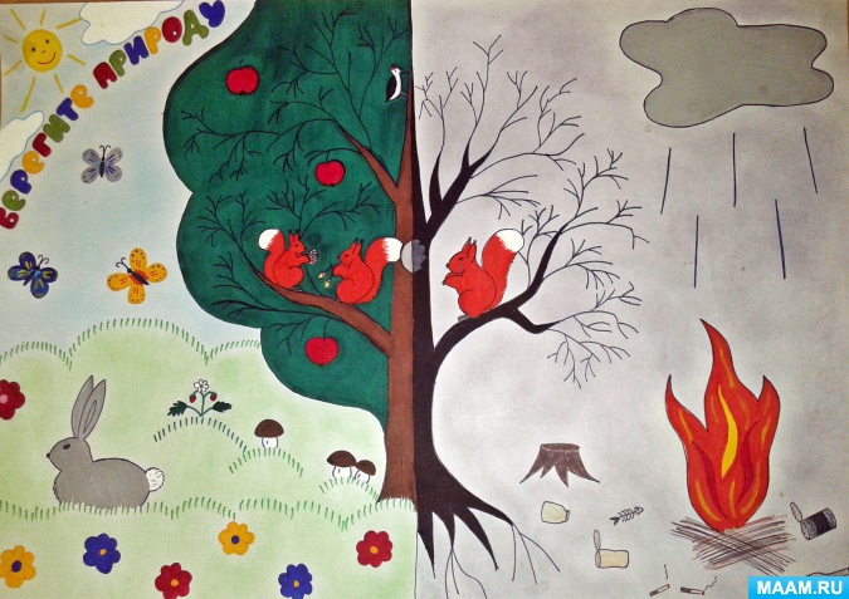 рисунки на тему берегите лес от пожара картинки