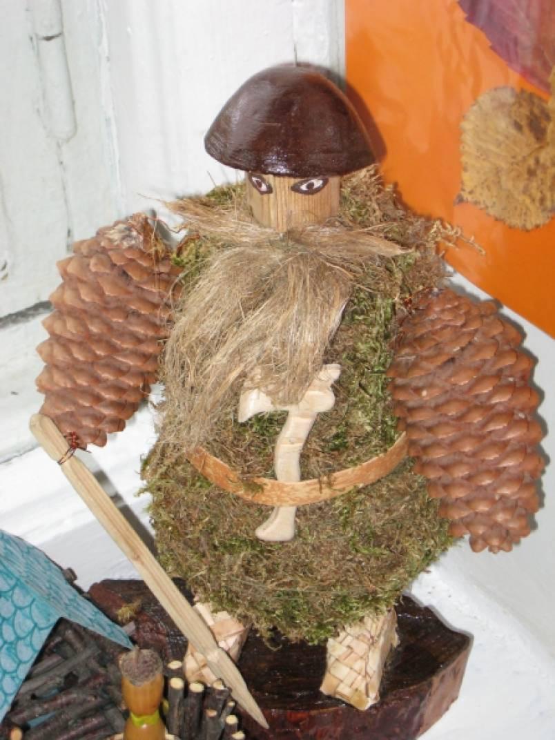 Домик лесовичка из природного материала своими руками 34