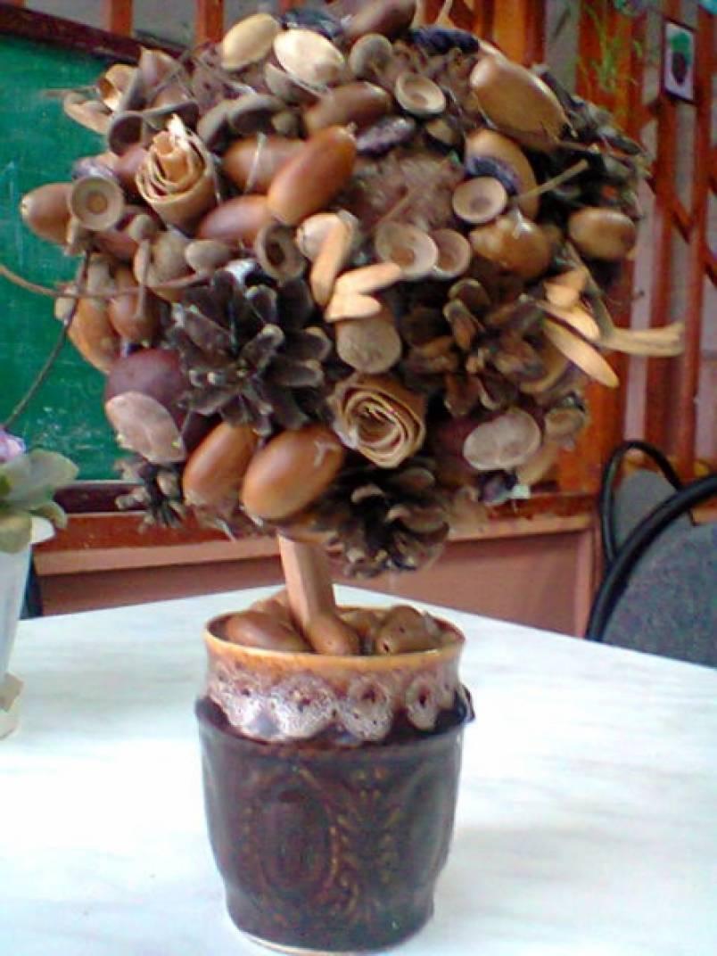 Дерево из желудей своими руками поэтапно фото 17
