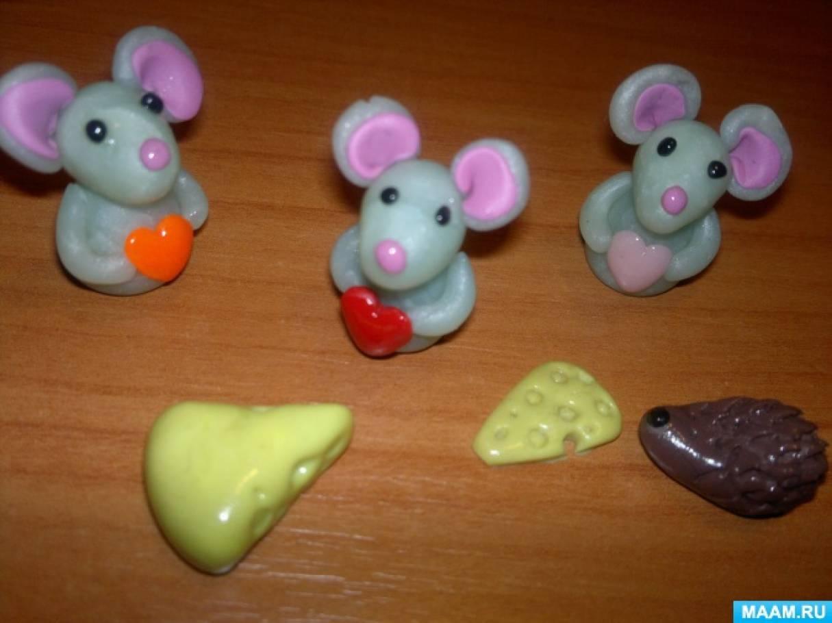 Мышки-малышки из полимерной глины