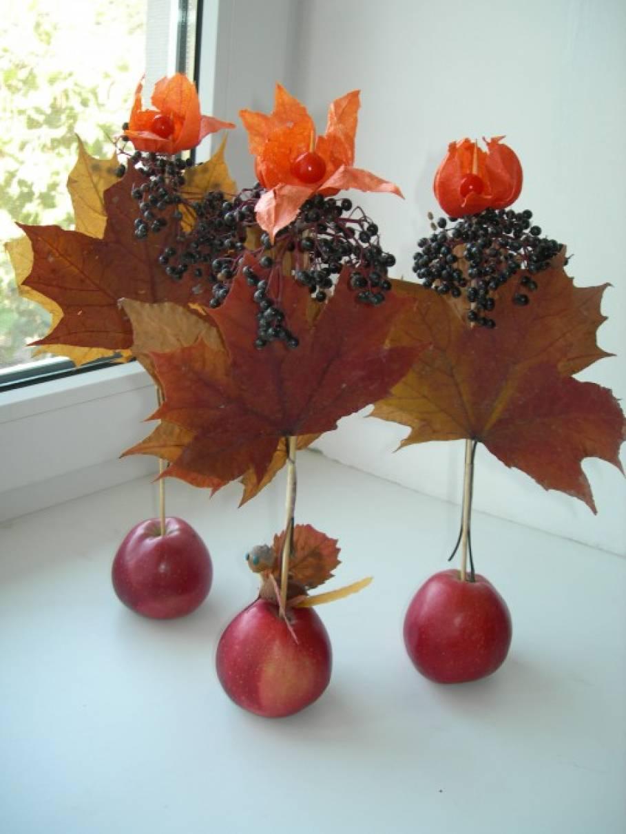 Поделка из природного материала на тему осень дерево 14