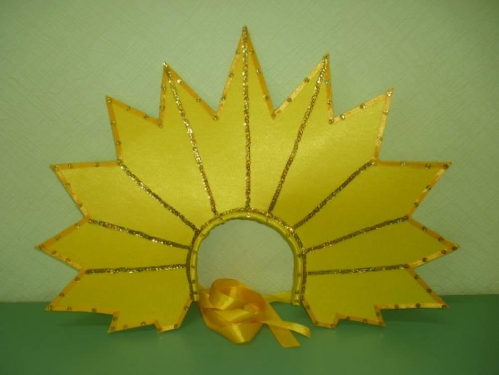 Картинка солнце своими руками