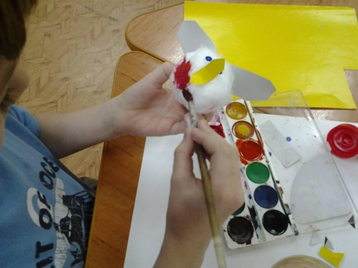 Собираем веселых красногрудых снегирей оригами