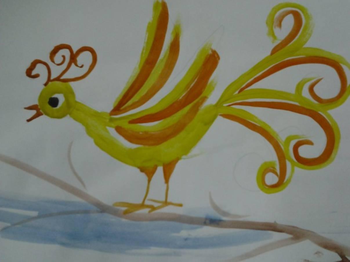 Поэтапно как рисовать волшебную птицу подготовительная группа