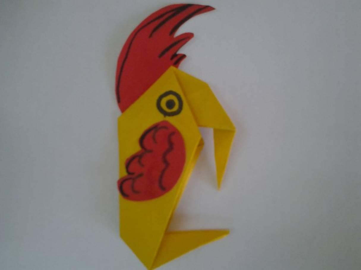 Мастер-класс «Попугай Кеша». Оригами (подготовительная группа)