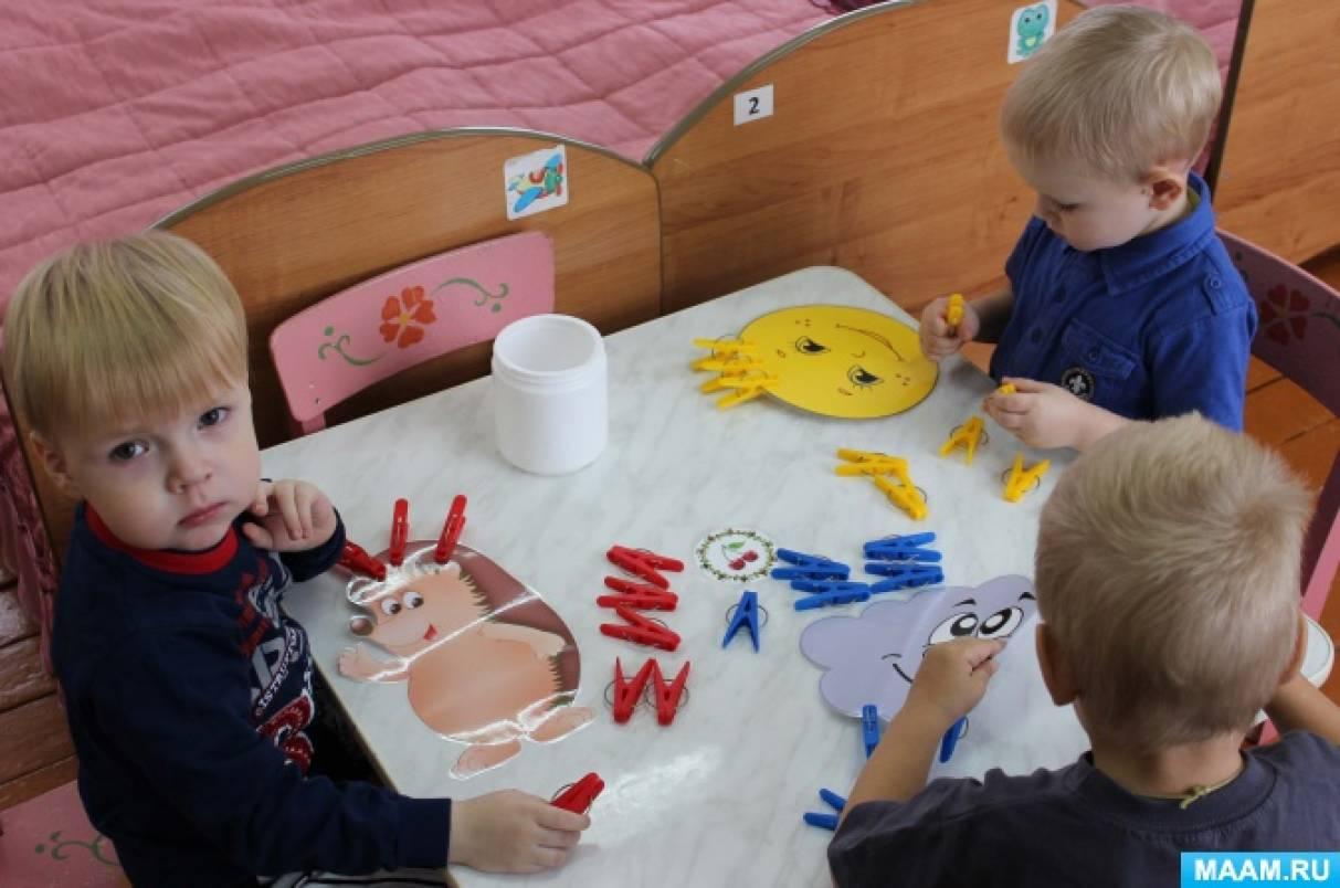 Дидактические игры для сенсорного развития детей 2–3 лет своими руками