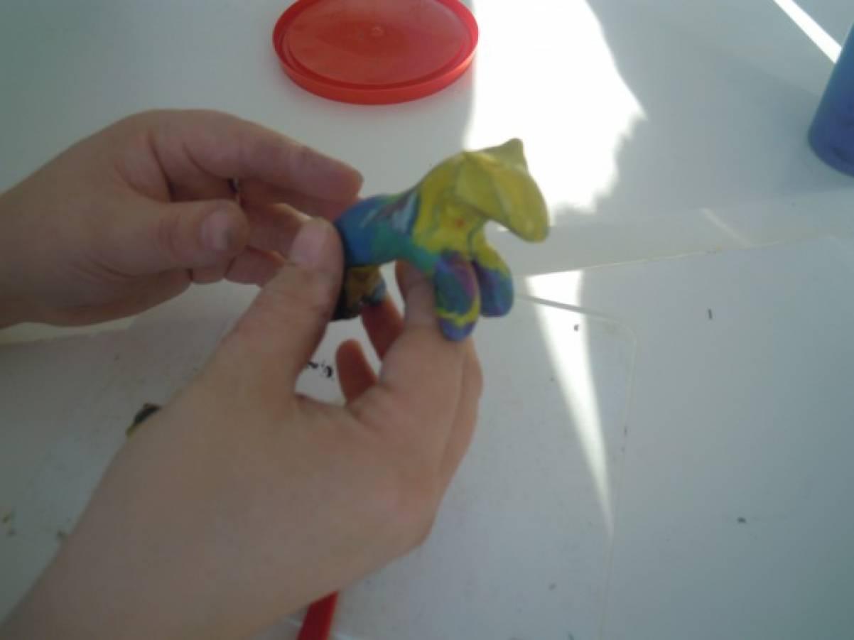 Дымковская игрушка лепка из пластилина подготовительная группа индюк конспект занятия
