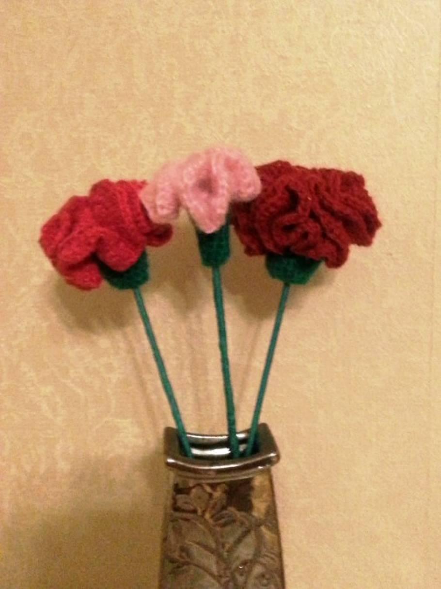 Мастер-класс: «Вязаные цветы»