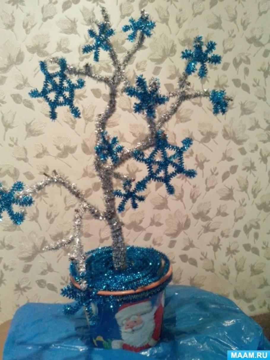 Мастер-класс к Новому году. Топиарий «Дерево в серебре»