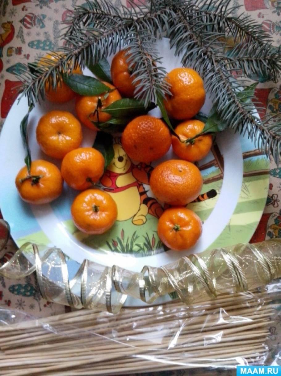 Букет из мандаринов своими руками пошаговое