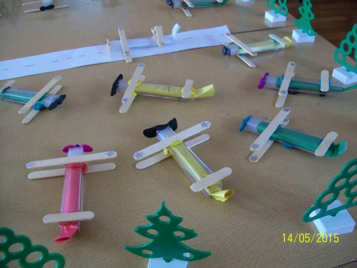 Самолетики из бросового материала