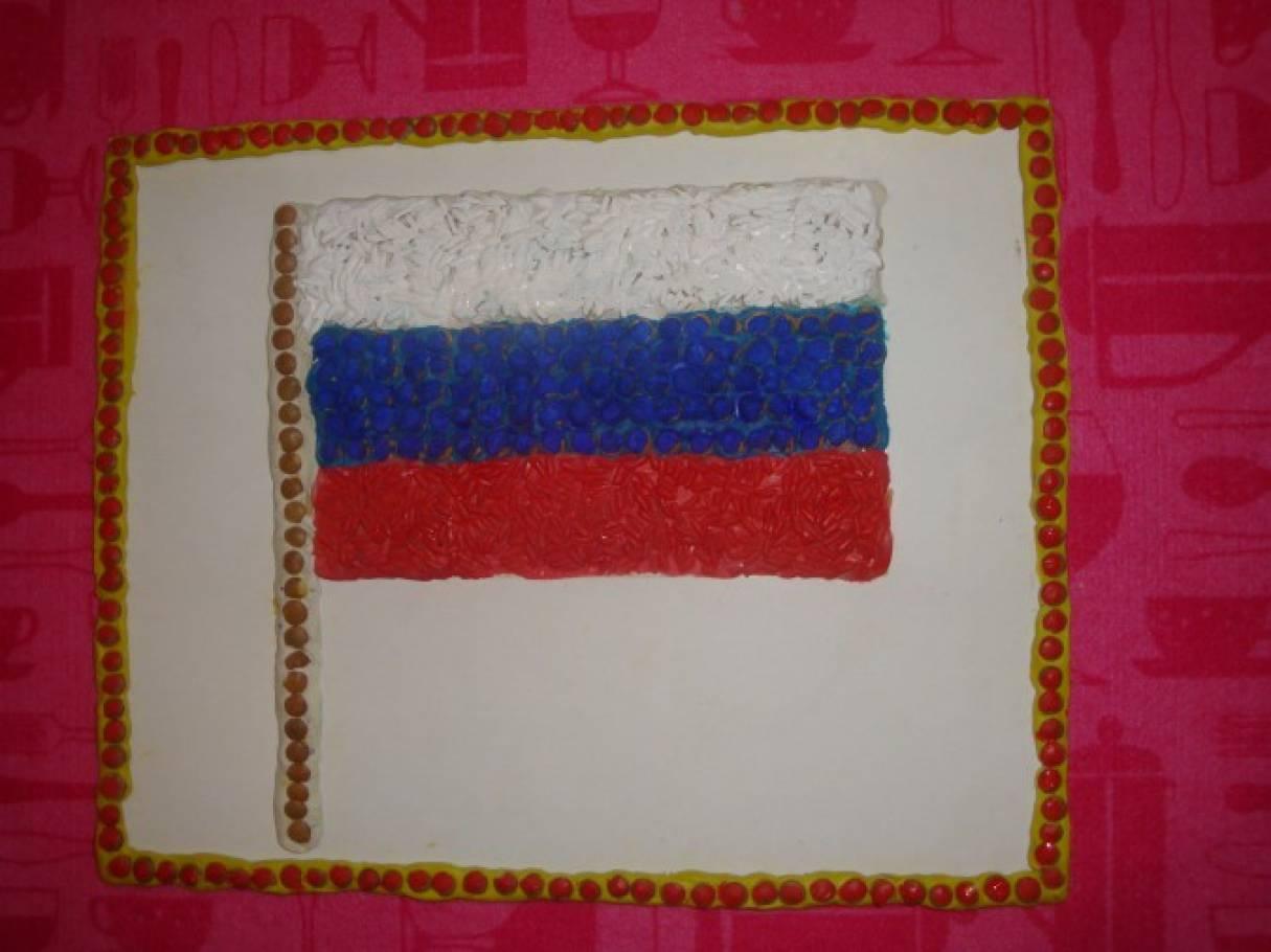 Мастер-класс «Российский флаг из риса и чечевицы»